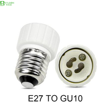 1X New E27 to GU10 Converter LED Light Lamp Bulb Adapter Adaptor Screw Socket ceramic material E27 TO GU10 SOCKET BULB BASE(China)
