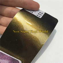 3 Layers Glossy Pearl Gold Glitter Diamond Vinyl Film Roll Bubble Free For Car Macbook Size:1.52*20M(5ft X 65ft)