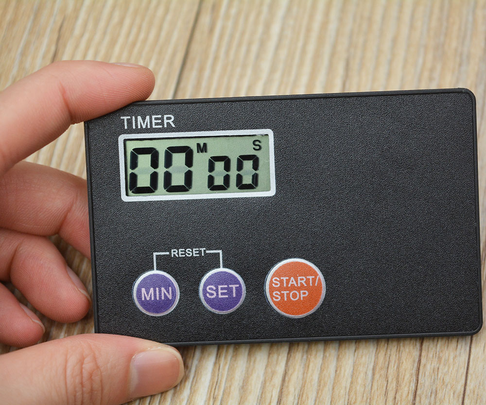 Pocket Credit Card Size Kitchen Timer Digital Countdown Cooking Alarm Clock Kitchen Tools(China (Mainland))
