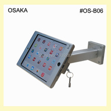 for mini iPad wall mount security display rack on hotel or trade fair desk lock mounting support for advertising