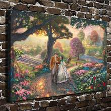 H1167 Thomas Kinkade Gone With The Wind,Hd Canvas Print Home Decoration Living Room Bedroom Wall Pictures Art Painting drop