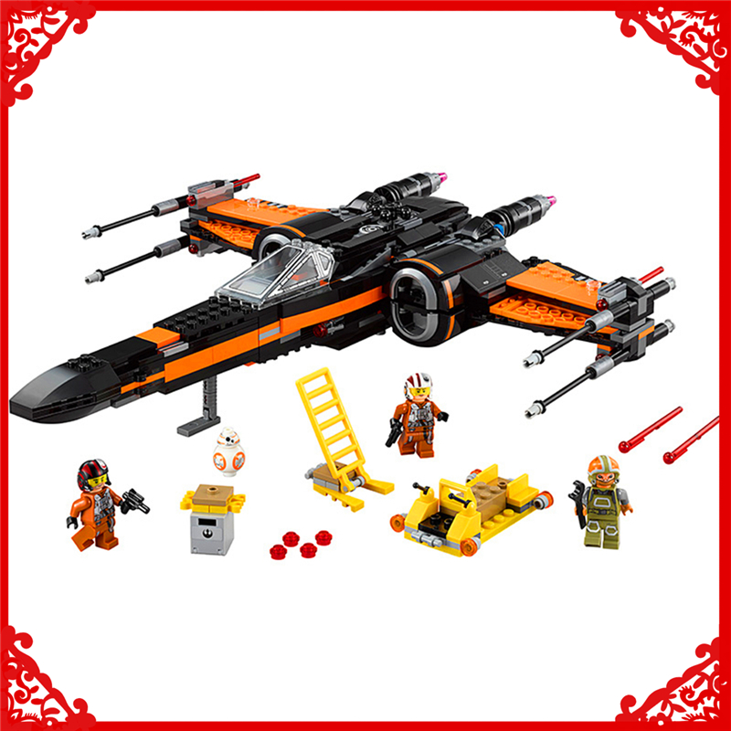 748Pcs Star Wars First Order Poes X-wing Fighter Building Block Toys LEPIN 05004 Educational Gift For Children Compatible Legoe<br>