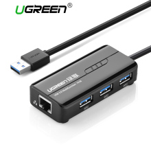 Ugreen USB Ethernet Adapter 3 Port USB 3.0 2.0 HUB 10/100/1000 Mbps Usb to RJ45 Gigabit Network Card LAN Adapter Usb Ethernet