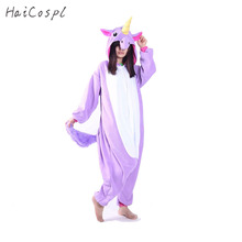 Unicorn Onesie Women Pajama Adult Animal Cosplay Costume Warm Soft Flannel Winter Home wear Blue Pink Purple Cute Cartoon Fancy(China)