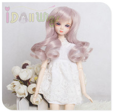 Soft light lavender deep curly doll hair finished wigs for Kurhn /Monster doll with 11.5-12.5cm head girth