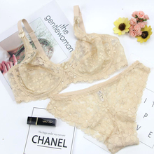 Buy vs secret brand sexy lace bra set sexy transparent bras panties women underwear set sutia plus size lingerie large bra set CDcup
