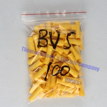 BV5 BV5.5 Full Insulating Wire Connector wire connector 50PCS/Pack Butt Connectors Crimp Electrical Wire Splice Terminal BV