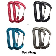 7075 Aluminum Carabiners in hammocks Survial Key Chain Carabine Hook Clip Camping Equipment Paracord Buckles for Outdoor Camping(China)