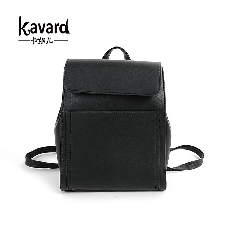 Kavard brand small Black Pu Women bag Leather Backpack School Bag Student girl Backpack Travel Bag Lady Package sac a main femme<br><br>Aliexpress