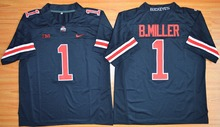 2015 Nike Youth Ohio State Buckeyes Braxton Miller 1 College Ice Hockey Jerseys - Blackout S M L XL(China)