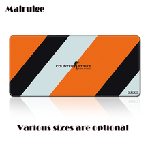 Mairuige brand Custom Oversize Yellow White CSGO Game LOGO Mouse Pad, Lock Edge Computer Keyboard Table Mat for Home Office Gift