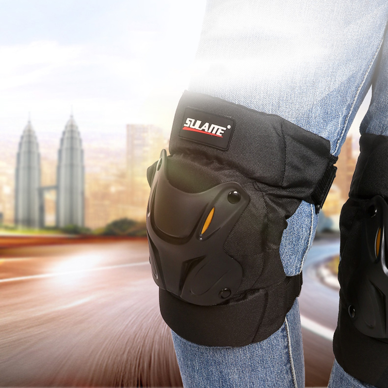 Protective-Guard Kneepad Motorcycle-Accessories Off-Road-Racing Brace 2pcs Crashproof title=