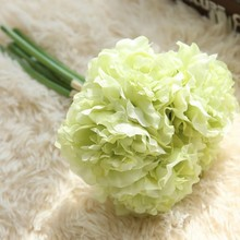 1 Pcs Hand holding Peony Artificial flower Decorations for Wedding Church Office Furniture Home Decoration Accessories flores(China)