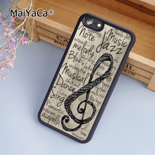 MaiYaCa Music note musical treble clef jazz blues fashion soft mobile cell Phone Case Cover For iPhone 5 5S SE Custom DIY cases(China)