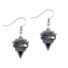5 Pairs Football Fans Earrings Alloy American Football Seattle Seahawks Charm Drop Earrings(China)