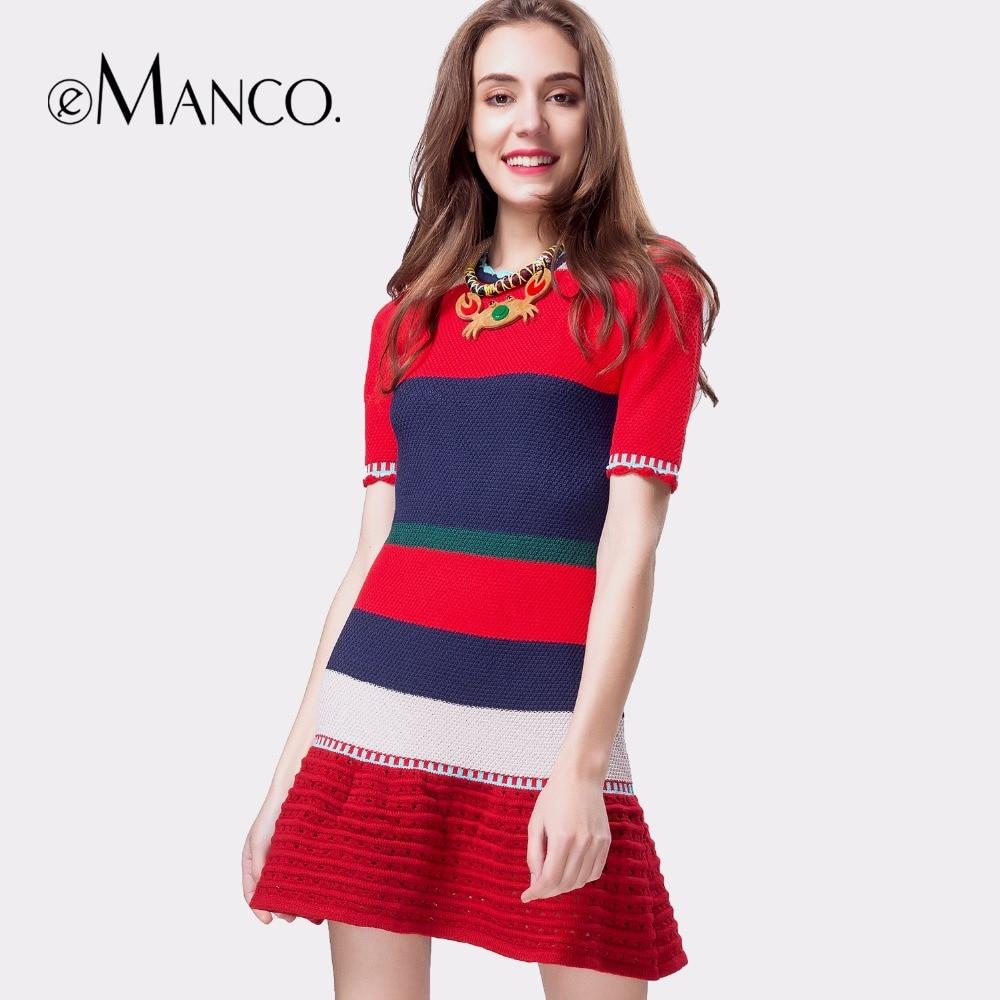 e-Manco summer dress female Short sleeves hook flowers hollow pleated dress high waist wrapped Knitted Patchwork vestidosÎäåæäà è àêñåññóàðû<br><br>