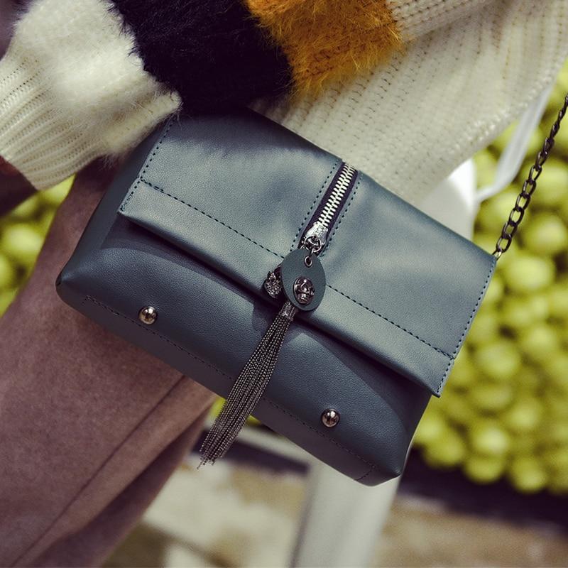 Vintage Tassels Pu Leather Female Bag 2017 New Rivet Shoulder Crossbody Women Bags Chain Fashion Ladies Flap Messenger Handbags<br><br>Aliexpress