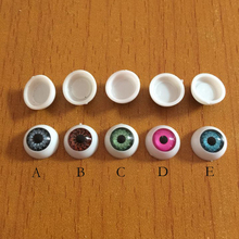 50pcs/set Hollow Eyeball Mask Halloween Horror Props Costume Plastic Half Round Hollow Eyeballs Doll Mask Doll Accessories Toys(China)