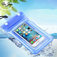 Roc Joan Floatable Waterproof Case Universal for iPhone 6 6S 5S 7 Plus Samsung S7 Edge S8 Redmi Note 4X Phone Underwater Pouch(China)