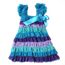 2016 Kids Summer Dress For Girl Lace Yarn Cute Little Princess Dresses Children Girls' Clothing For Birthday Party Tutu Dress