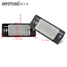 HOPSTYLING 2PCS LED For Vectra C Estate 02-08 LED License Plate light car styling auto lighting system Auto parts automotive(China)