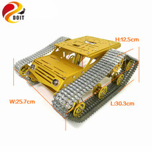 Buy DOIT Metal Tank Chassis Robot Car Chassis RC Tank Model Tracked Car DC 9V Motor+Metal Tracks+Aluminum Alloy Structure for $127.00 in AliExpress store