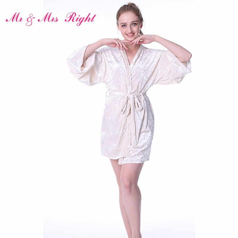 c86aeeb31904 Mr   Mrs Right Warm Kimono Robes For Women On Winter Night Bathrobe  Lingerie Sexy Short