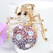 Spider Web Insect Charm Pendant Crystal Purse Bag Keyring Key Chain Gift Women In Apparel & Accessories