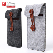 Phone bag Wool Felt Wallet Shock Absorbing Impact Resistant Smartphone Pouch Sleeve Bag For Samsung Galaxy S7 Edge Cases