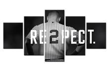 5 Panel New York Yankees Captain Derek Jeter Modern  HD Print Painting On Canvas Artworks Home Wall Decor Canvas Picture Art