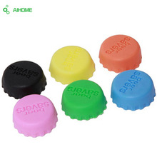AIHOME 6Pcs/Set Colorful Silicone Beer Bottle Cap Wine Stoppers Leak Free Wine Bottle Sealers Red Wine Bottle Cap Bar Tools