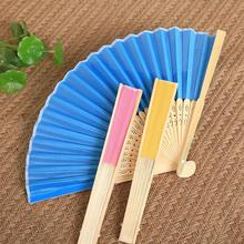 5Pcs/lot Fold Fan Child Painting Painted White Color Fan Kindergarten Creative DIY Handmade Material Paper Fan Party Decoration(China)