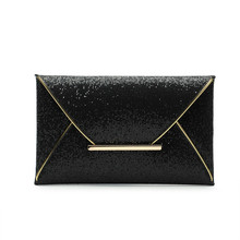 New Day Clutches Women Bags luxury brand Evening Party Bag Gold Sequins Envelope Bag Purse Clutch Handbags Shiny Solid Ultrathin
