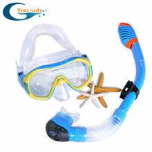 FREE SHIPPING Scuba Diving Equipment Dive Mask + Dry Snorkel Set Scuba Snorkeling Gear Kit(China)