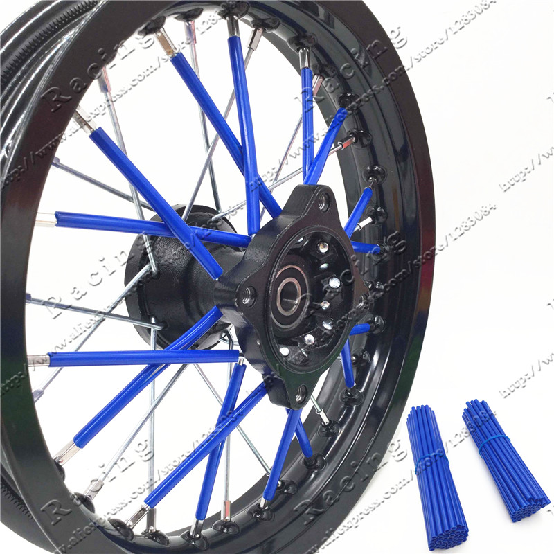 For KTM Kawasaki Motocross SPOKE SKINS Wheel RIM SPOKE SHROUDS COVERS for Motorcycle Dirt pit bike CRF KXF YZ Kayo 12 14 17inch<br><br>Aliexpress