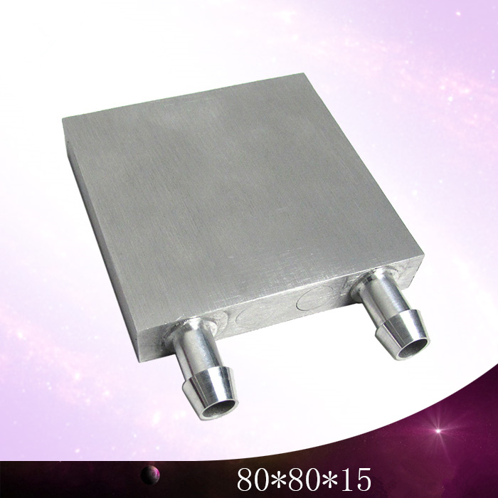 80*80*15mm computer water cooling cooler Aluminum block industrial M-shaped Small air conditioning radiator Heat sink fins<br>