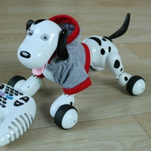 777-338 RC Robot Smart Dog 2.4G RC Intelligent Simulation Mini Dog Contain clothes free shipping(China)