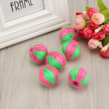 6Pcs Washing Machine Ball Wash Laundry Dryer Fabric Soften Helper Cleaner For Hair Lint Fluff Grabbing Remover(China)