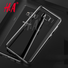 H&A soft transparent TPU case For Samsung S8 silicon cover For samsung galaxy S8 plus case cover ultra thin clear back cover(China)