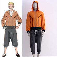 Man Cosplay Clothing Anime Naruto Cosplay The Last Shippuden Uzumaki Naruto Costume Boruto's Father Orange Hoodie Suit