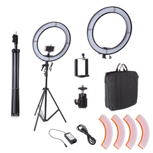 Camera Photo Studio Phone Video 55W 240PCS LED Ring Light 5500K Photography Dimmable Ring Lamp With 200CM Tripod
