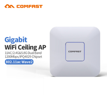2017 Comfast CF-E370AC 1200M Gigabit Router Dual Band 2.4+5GHz 11 AC WiFi Access point wi fi Signal Amplifier openwrt indoor AP(China)