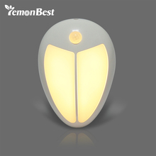 Mini Wireless Infrared Motion Sensor Baby LED Night Light Porch Wall Lamp for Bedroom Hallway Cabinet Stairwells Kitchen Closet(China)