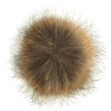18CM Genuine Real Raccoon Fur Pompom Fur Pom Poms Ball for Hats Caps Big Natural Fur Pompon Ball For Shoes Hats Bags Accessories