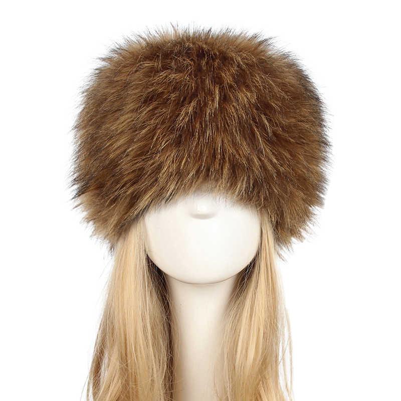 Ladies Winter Hats Warm Cap Fashion Women Long Faux Rabbit Fur Winter Snow  Hat Full Fur dc5dfa218bb1