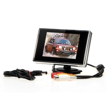 "3.5"" TFT LCD Car Monitor Auto TV 2 video input mirror monitor Parking Assist Backup Reverse Monitor Car DVD Screen(China)"