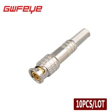 GWFEYE 10PCS CCTV BNC Connector Solder Less Twist Spring BNC Connector Jack For Coaxial RG59 Surveillance Accessories