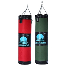 Zooboo 100cm Boxing Punching Bag Fitness Sandbags Striking Drop Hollow Empty Sand Bag Martial Art Training Punch Target