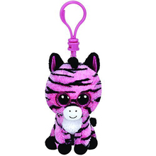 "Ty Beanie Boos 4"" 10cm Zoey the Zebra Clip Keychain Plush Stuffed Animal Collectible Doll Toy(China)"