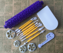 15PCS/SET Many Kinds,Rolling Pin  Food Grade Plastic Cake Tools,Cookie Cutter,Fondant Cake Decorating